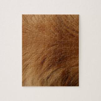 Golden Retriever Fur Jigsaw Puzzle