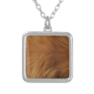 Golden Retriever Fur Silver Plated Necklace