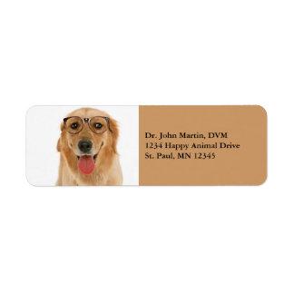 Golden Retriever Golden Lab Dog Address Labels