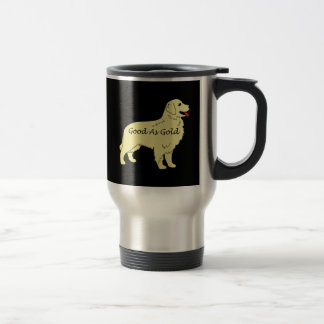 Golden Retriever Good As Gold Travel Mug