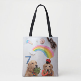 Golden Retriever Good Luck Tote Bag