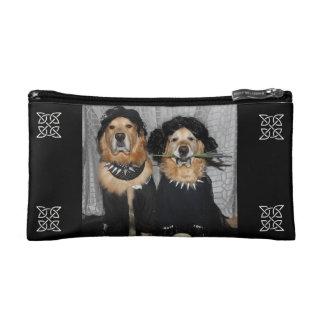 Golden Retriever Goth Style Cosmetic Bag