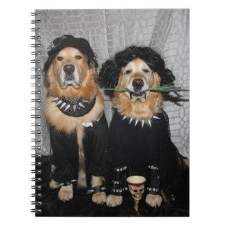 Golden Retriever Goth Style Notebooks