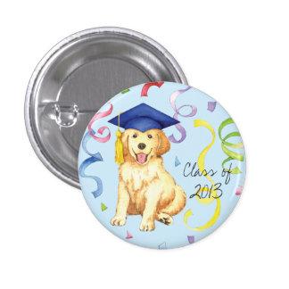 Golden Retriever Graduate 1 Inch Round Button