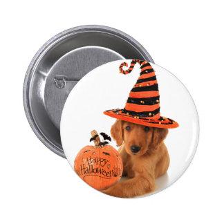 Golden Retriever Halloween Design 2 Inch Round Button