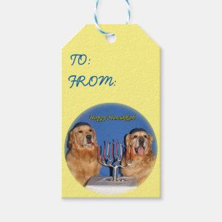 Golden Retriever Hanukkah Menorah Lighting Pack Of Gift Tags