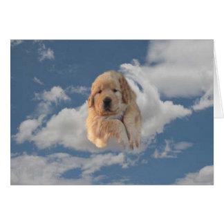 Golden Retriever Have A Heavenly Birthday Card