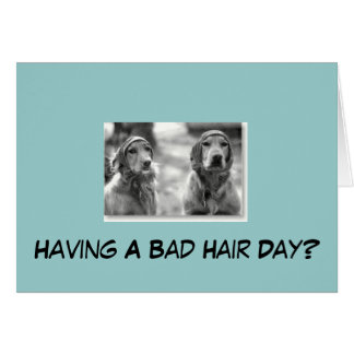 Golden Retriever Having A Bad Hair Greeting Card