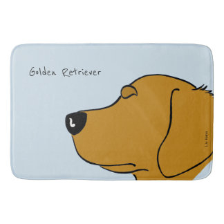 Golden retriever head silhouette bath mat
