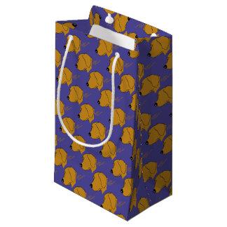 Golden retriever head silhouette small gift bag