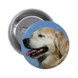 Golden Retriever Headshot 4 2 Inch Round Button