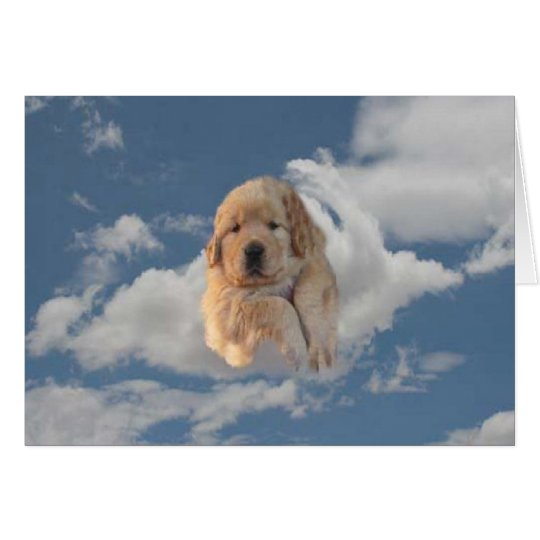 Golden Retriever Heavenly Day Greeting Card