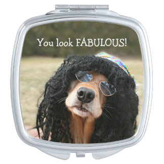 Golden Retriever Hippie Mirror For Makeup