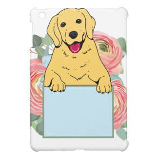 Golden Retriever Holding Sign Cover For The iPad Mini