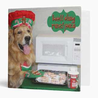 Golden Retriever Holiday Recipes Binder