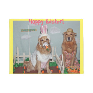 Golden Retriever Hoppy Easter Doormat
