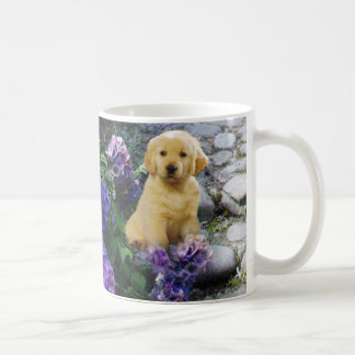 Golden Retriever Hydrangea Mug