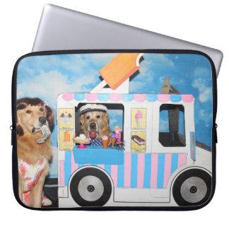 Golden Retriever Ice Cream Truck Laptop Sleeve