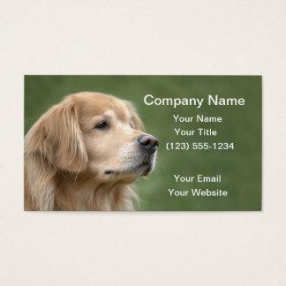 Golden Retriever in Closeup Business Card