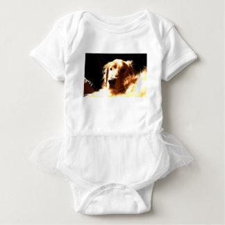 Golden Retriever In Sunlight Baby Bodysuit