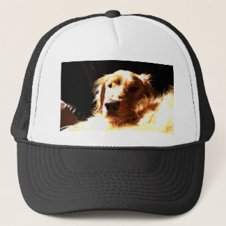 Golden Retriever In Sunlight Trucker Hat