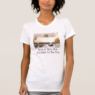 Golden Retriever In The Bath Tub T-Shirt