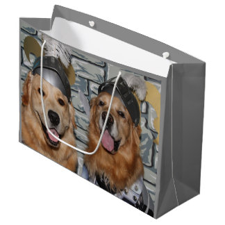 Golden Retriever Knights Large Gift Bag