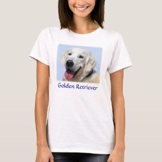 Golden Retriever Ladies Baby Doll Fit  Tee Shirt