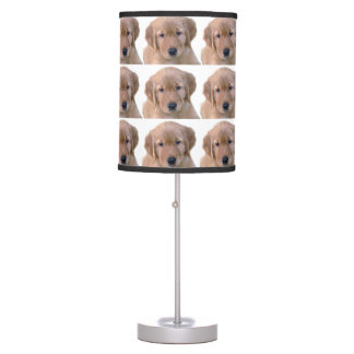 Golden Retriever Lamp, Puppy Table Lamp