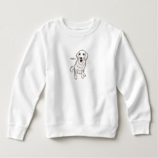 Golden Retriever Line Art Sweatshirt