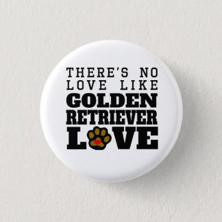 Golden Retriever Love 1 Inch Round Button