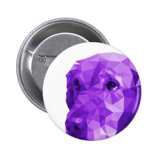 Golden Retriever Low Poly Art in Purple 2 Inch Round Button