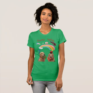 Golden Retriever Lucky Dogs T-Shirt