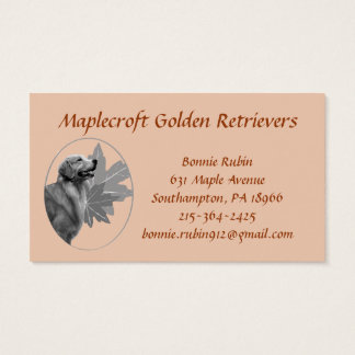 Golden Retriever Maplecroft EMAILBusiness Card