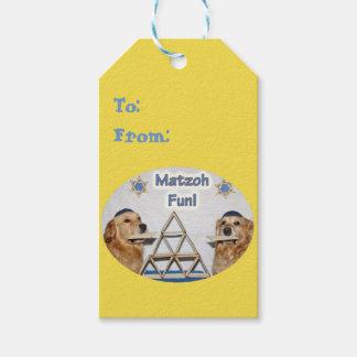 Golden Retriever Matzoh Fun Passover Gift Tags