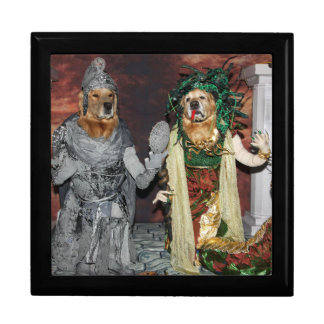 Golden Retriever Medusa and Stone Soldier Gift Box