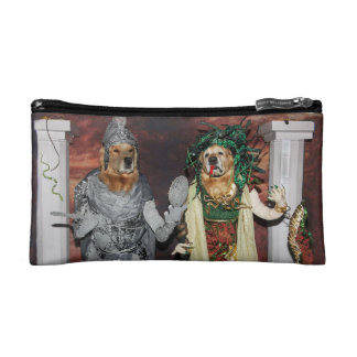 Golden Retriever Medusa and Stone Soldier Makeup Bags