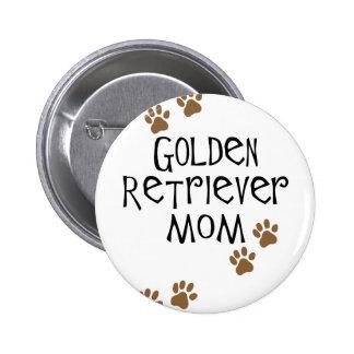 Golden Retriever Mom 2 Inch Round Button