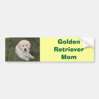 Golden Retriever Mom Bumper Sticker Car Bumper Sticker
