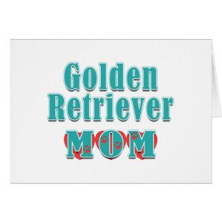 Golden Retriever Mom Hearts Card