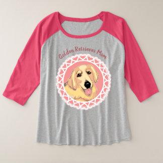Golden Retriever Mom Women's Plus-Size Raglan Plus Size Raglan T-Shirt