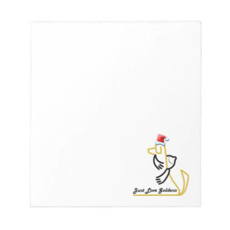 Golden Retriever Notepad, Just Love Goldens Notepad