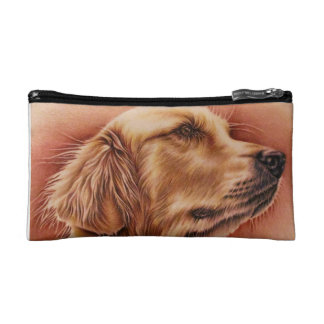 Golden Retriever on Cosmetic Bag