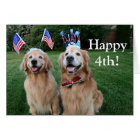 Golden Retriever Outdoor Independence Day Card