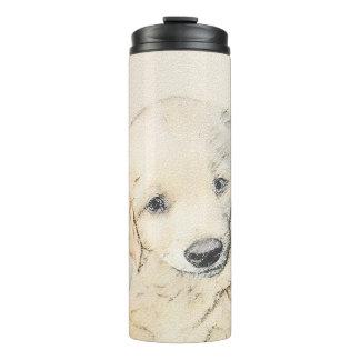 Golden Retriever Painting - Cute Original Dog Art Thermal Tumbler