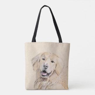 Golden Retriever Painting - Cute Original Dog Art Tote Bag