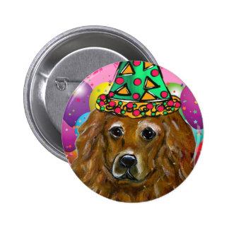 Golden Retriever Party Dog 2 Inch Round Button