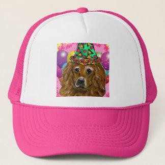 Golden Retriever Party Dog Trucker Hat