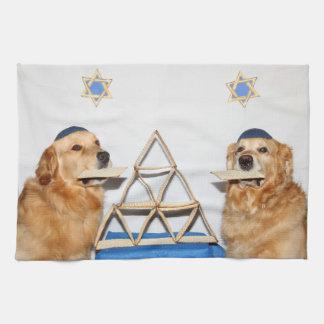 Golden Retriever Passover Matzo Kitchen Towel
