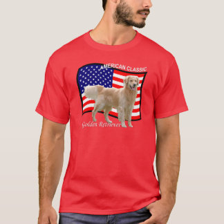 Golden Retriever Patriotic T-shirt